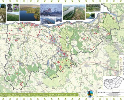 térkép komárom esztergom megye Komárom Esztergom megye helyi jelentőségű természetvédelmi területei térkép komárom esztergom megye