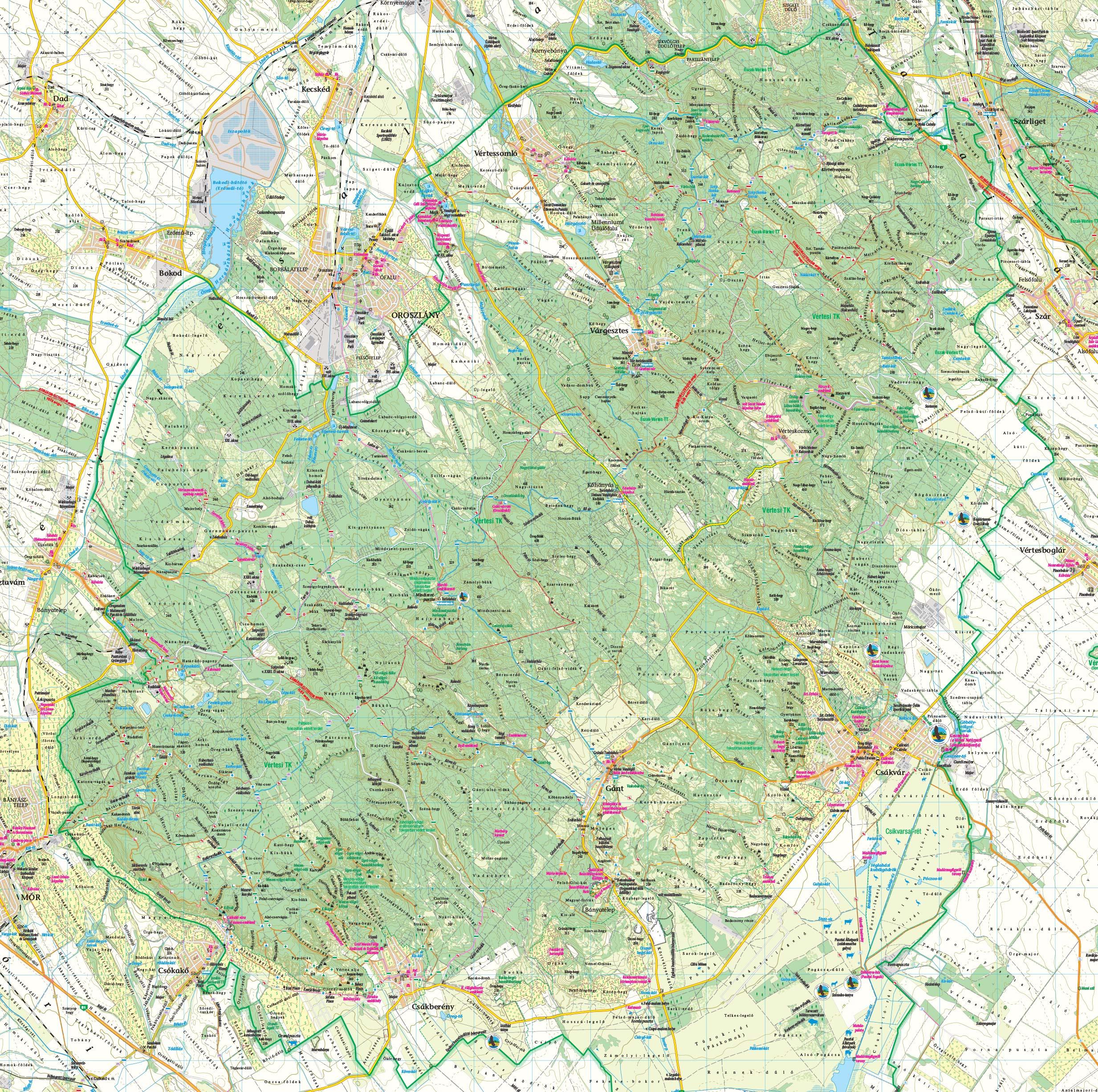 vértes térkép Térkép vértes térkép